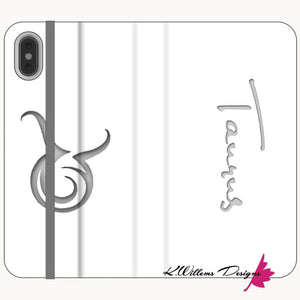 Taurus Phone Cases - iPhone XS Max / Premium Folio Wallet Satin Case
