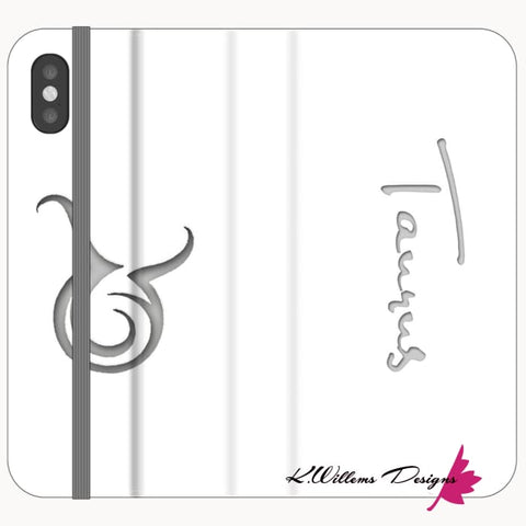 Image of Taurus Phone Cases - iPhone XS / Premium Folio Wallet Satin Case