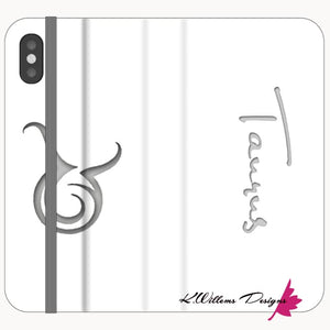 Taurus Phone Cases - iPhone XS / Premium Folio Wallet Satin Case