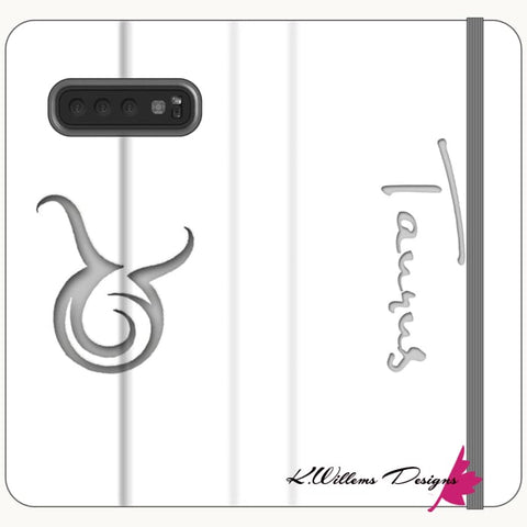 Image of Taurus Phone Cases - Samsung Galaxy S10 Plus / Premium Folio Wallet Satin Case