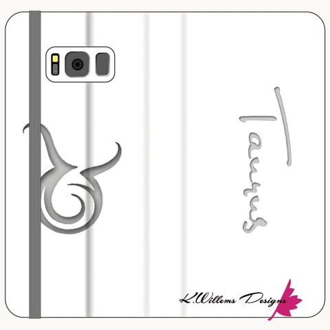 Image of Taurus Phone Cases - Samsung Galaxy S8 Plus / Premium Folio Wallet Satin Case