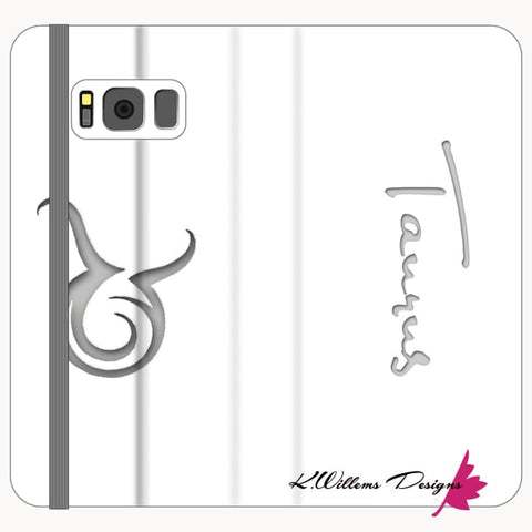 Image of Taurus Phone Cases - Samsung Galaxy S8 / Premium Folio Wallet Satin Case