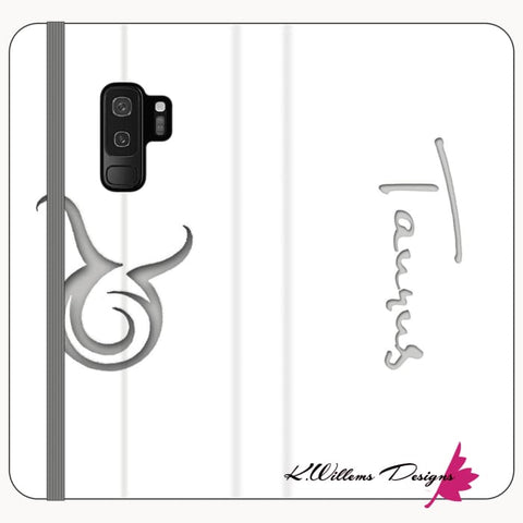 Image of Taurus Phone Cases - Samsung Galaxy S9 Plus / Premium Folio Wallet Satin Case