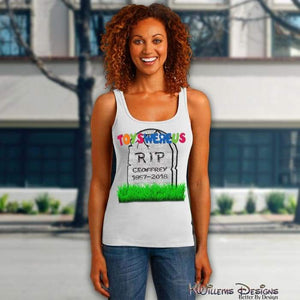 Toys Were Us Womens Racerback Tank Top
