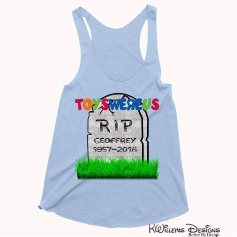 Image of Toys Were Us Womens Racerback Tank Top - Blue Triblend / XS