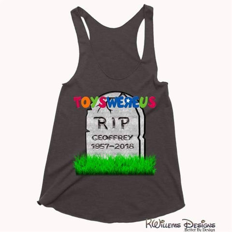 Image of Toys Were Us Womens Racerback Tank Top - Charcoal Black / XS
