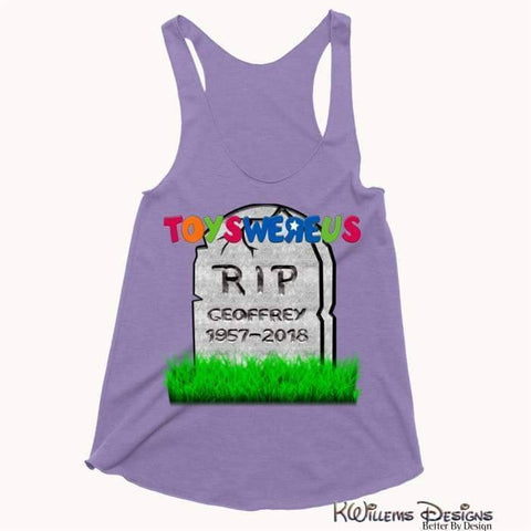 Image of Toys Were Us Womens Racerback Tank Top - Purple / XS