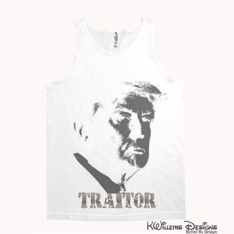 Image of Traitor 45 Alstyle Unisex Tank - White / Small (S)