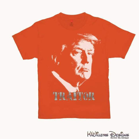 Image of Traitor 45 Mens Hanes T-Shirts - Orange / Small (S)