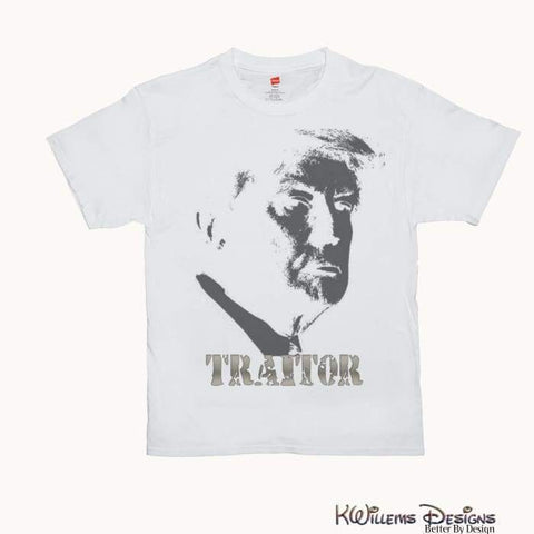 Traitor 45 Mens Hanes T-Shirts - White / Small (S)