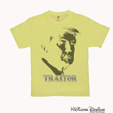 Image of Traitor 45 Mens Hanes T-Shirts - Yellow / Small (S)