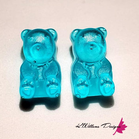 Image of Gummy Bear Earrings - Blue
