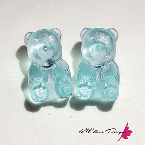 Image of Gummy Bear Earrings - Light Blue
