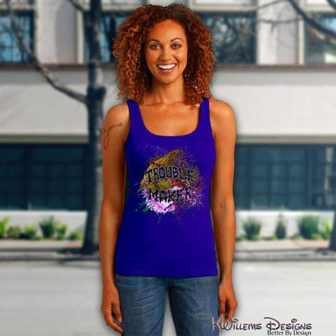 Trouble Maker Womens Racerback Tank Top