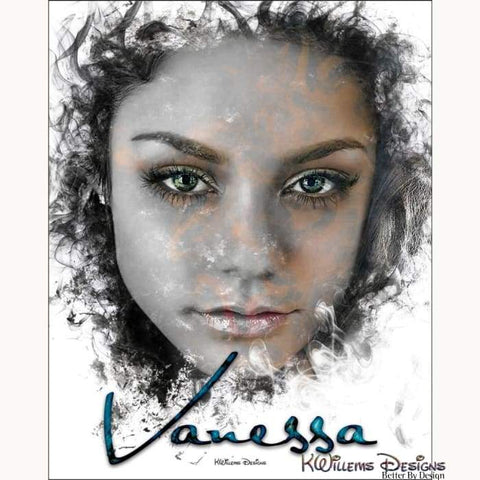 Image of Vanessa Hudgens Ink Smudge Style Art Print