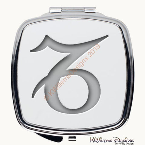 Image of Zodiac Themed Compact Mirrors - Capricorn / Square