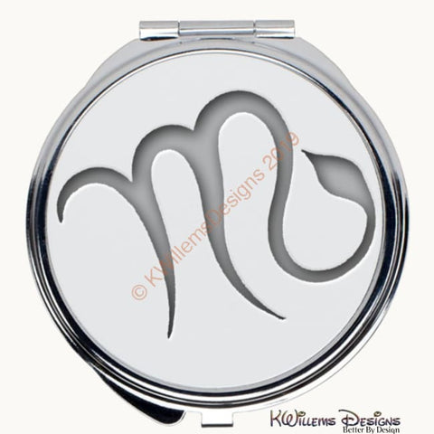 Image of Zodiac Themed Compact Mirrors - Scorpio / Round