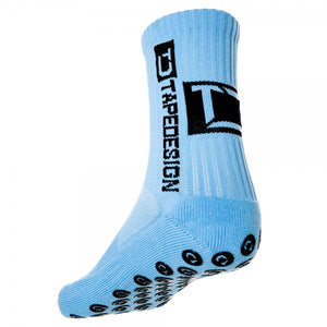 Hellblaue Tapedesign Socken