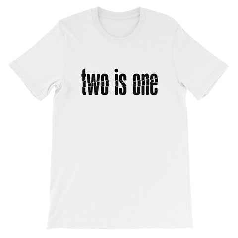 Prepper Shirt: Two is One, One is None (front and back) | + FREE shipping
