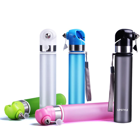 Water Bottle Emergency Hammer, BPA-free (5 color choices)