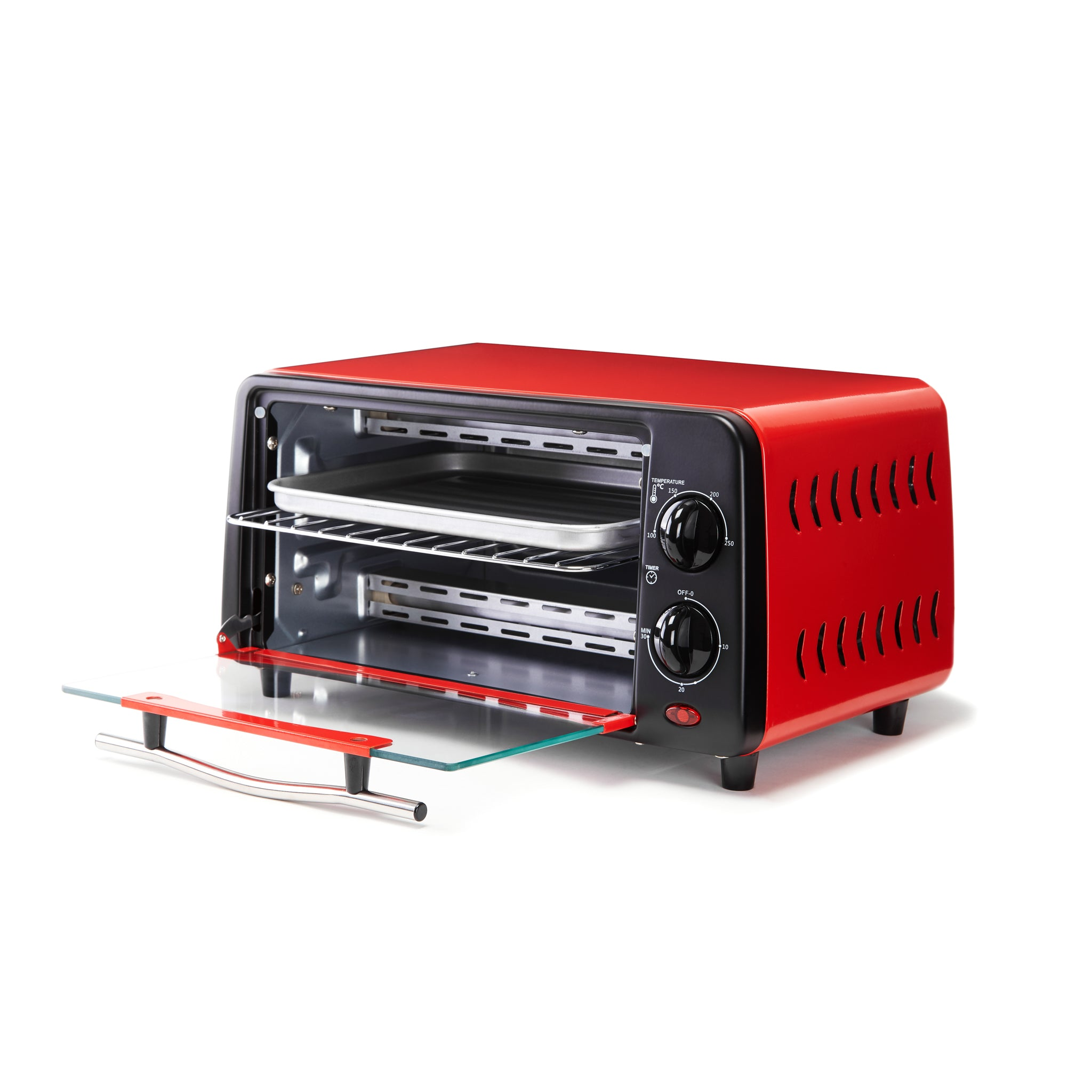 10L Mini Oven in Passion Red and Rich Black
