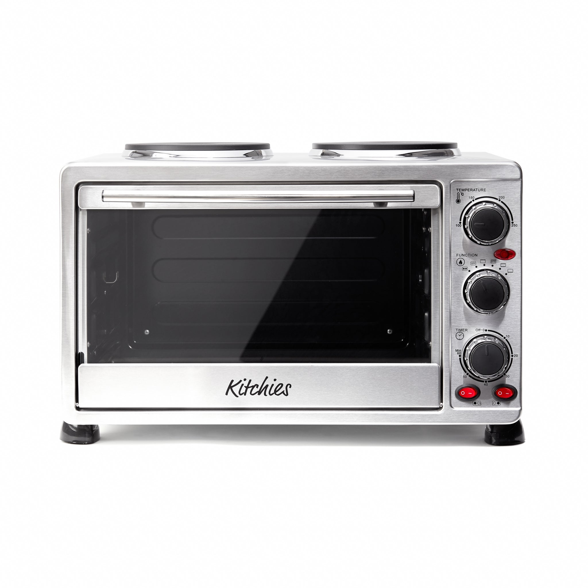 L Countertop Mini Convection Oven with Hotplates in Stainless