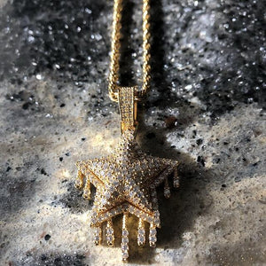 Iced Dripping Star Pendant