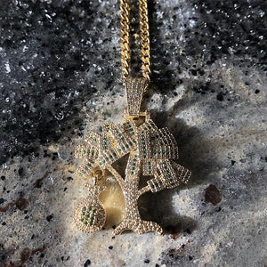 Iced Out Money Tree Chain Set