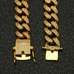 Premium 13mm Gold Iced Cuban Link Chain
