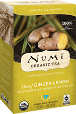 NUMI GINGER LEMON GREEN TEA – DECAFFEINATED