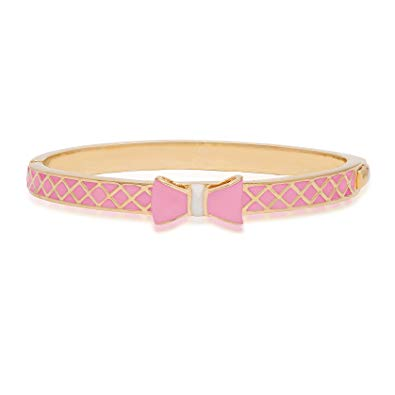 Pink and Gold Bow Bangle