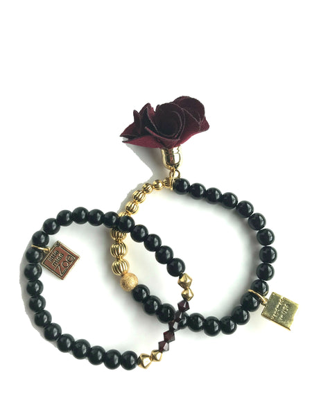 Black and Gold Garden Bracelet - My Berry Bow
