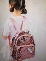 Pink Sequence Backpack