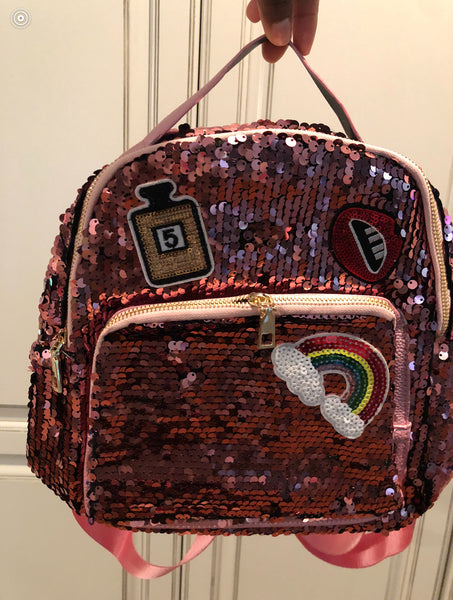Pink Glitter Backpack