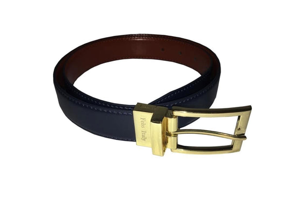 Navy/Tan Reversible Belt - My Berry Bow