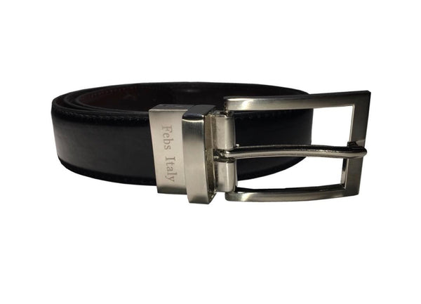 Black/Brown Reversible Belt - My Berry Bow