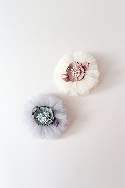 Flower Puff Clip - My Berry Bow