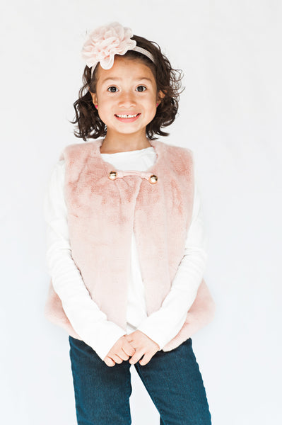 Pink Faux Fur Vest - My Berry Bow
