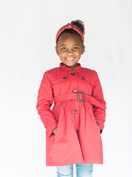 Red Belted Jacket - My Berry Bow