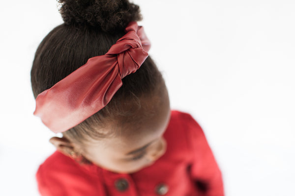 Faux Leather Headband - My Berry Bow