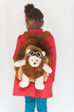 Aviator Bear Rolling Backpack - My Berry Bow
