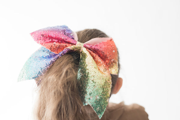 Rainbow Sequin Hair tie - My Berry Bow