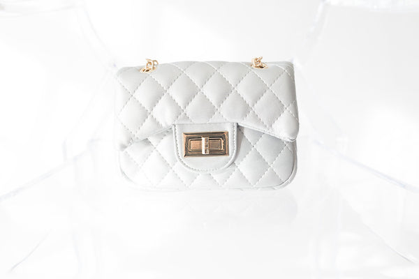 White Handbag - My Berry Bow