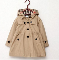 Girls Trench Coat - My Berry Bow