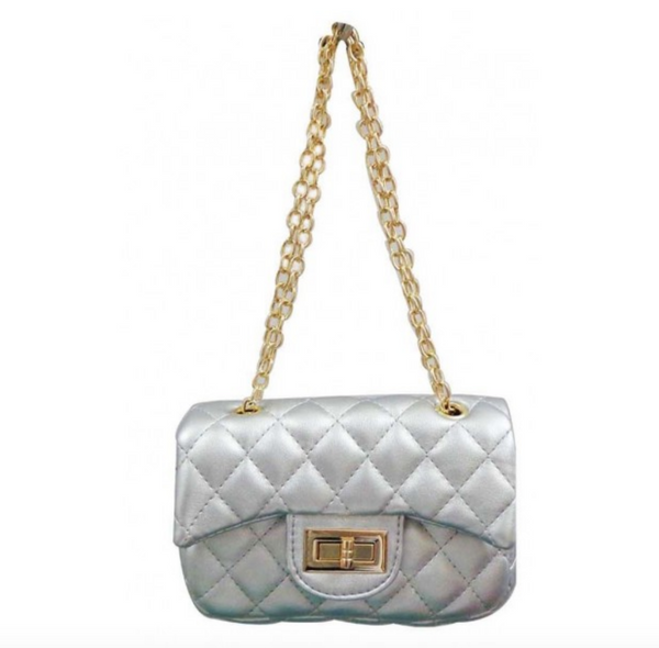 Silver Handbag - My Berry Bow