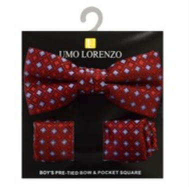 Red Bow tie and Hanky Set - My Berry Bow