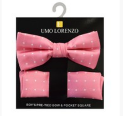 Pink Bow tie and Hanky Set - My Berry Bow