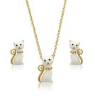 Cat Pendant and Stud Earrings Set - My Berry Bow