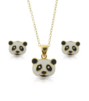 Panda Bear Pendant and Stud Earrings Set - My Berry Bow