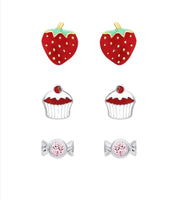 """Something Sweet"" Stud Earring Set - My Berry Bow"